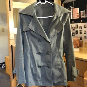 Dark Green Utility/Trench Jacket, Great Condition